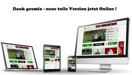 Dank geomix - neues tolles Layout auf unserer Homepage !
